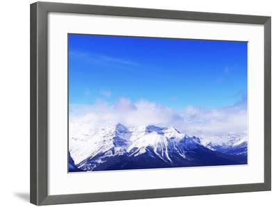 Snowy Mountains-elenathewise-Framed Photographic Print
