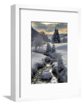 Winter-Hasenonkel-Framed Photographic Print