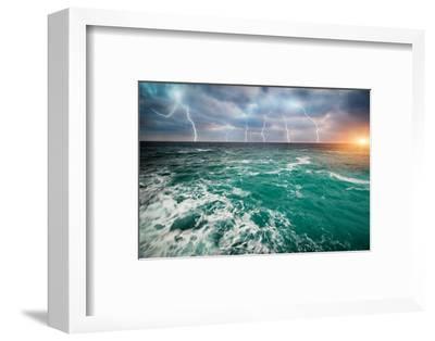 Storm on the Sea-Kashak-Framed Photographic Print