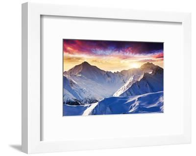 Fantastic Evening Winter Landscape-Leonid Tit-Framed Photographic Print