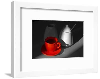 Red Cup of Coffee-jam-design.cz-Framed Photographic Print