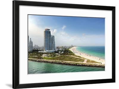 Miami Beach in Florida with Luxury Apartments and Waterway-Gino Santa Maria-Framed Photographic Print