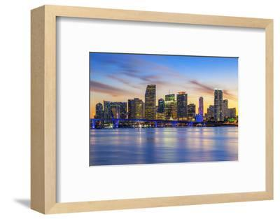 Famous City of Miami-prochasson-Framed Photographic Print
