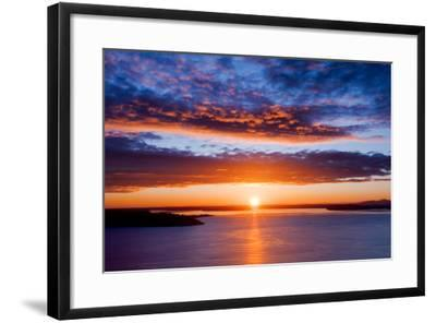 Sunset over Puget Sound, Seattle-kwest19-Framed Photographic Print