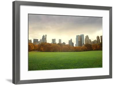 View of New York Buildings from Central Park-olly2-Framed Photographic Print