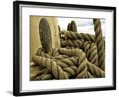 Yachting. Parts of Yacht. Nautical Ship Rope.-Voy-Framed Photographic Print