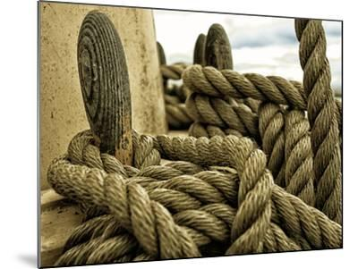 Yachting. Parts of Yacht. Nautical Ship Rope.-Voy-Mounted Photographic Print