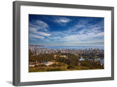 View on Vina Del Mar and Valparaiso, Chile-Nataliya Hora-Framed Photographic Print