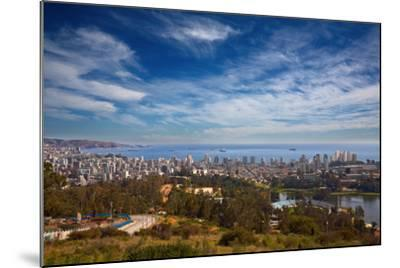 View on Vina Del Mar and Valparaiso, Chile-Nataliya Hora-Mounted Photographic Print