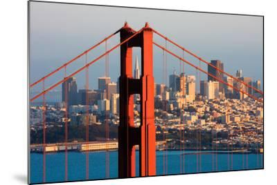 Golden Gate Bridge and Downtown San Francisco at Sunset-Andy777-Mounted Photographic Print