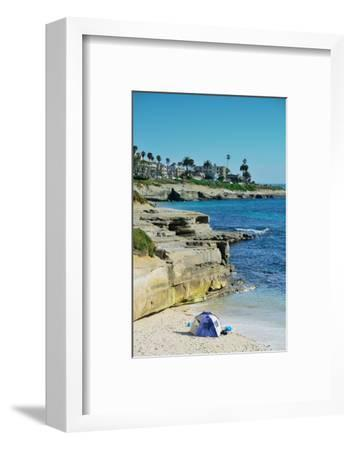 La Jolla Cove Beach at San Diego.-Songquan Deng-Framed Photographic Print