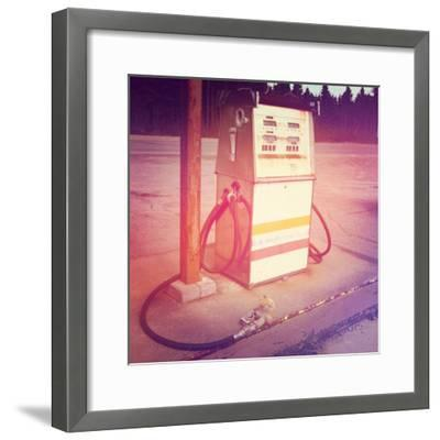 Old Gas Pump-melking-Framed Photographic Print