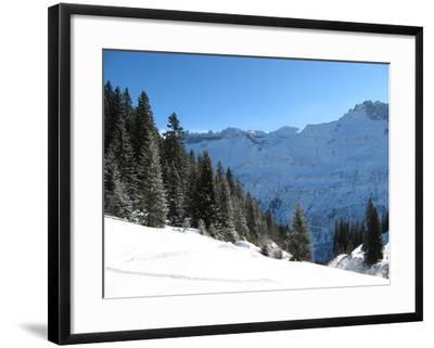 Winter Landscape (Winter in Swiss Alps)-swisshippo-Framed Photographic Print
