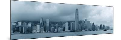 Urban Architecture in Hong Kong Victoria Harbor with City Skyline and Cloud in the Day in Black And-Songquan Deng-Mounted Photographic Print