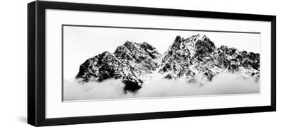 Cloudy Zugspitz in Black and White-Mat Selsek-Framed Photographic Print