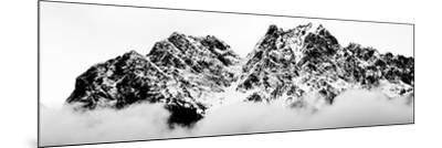 Cloudy Zugspitz in Black and White-Mat Selsek-Mounted Photographic Print