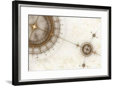Ancient Nautical Chart, Grunge-Artida-Framed Photographic Print