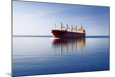 Cargo Ship Sailing in Still Water-aleksey.stemmer-Mounted Photographic Print