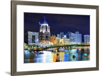 Skyscrapers in Downtown Pittsburgh, Pennsylvania, Usa.-SeanPavonePhoto-Framed Photographic Print