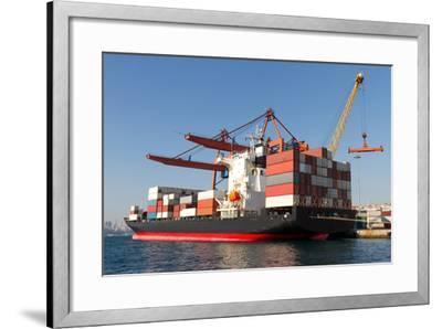 Container Ship-EvrenKalinbacak-Framed Photographic Print