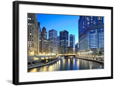 Chicago Skyline along the River-rebelml-Framed Photographic Print