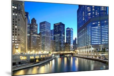 Chicago Skyline along the River-rebelml-Mounted Photographic Print