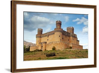 Madrid,  SPAIN - 20 Juny, 2009, Manzanares El Real Castle (Spain) Build in the 15Th. Century-TTstudio-Framed Photographic Print