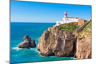 Lighthouse of Cabo Sao Vicente, Sagres, Portugal-topdeq-Mounted Photographic Print