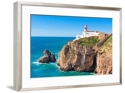 Lighthouse of Cabo Sao Vicente, Sagres, Portugal-topdeq-Framed Photographic Print