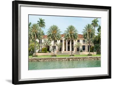 Luxurious Mansion by the Seaside on Star Island, Miami, Home of the Rich and Famous-Kamira-Framed Photographic Print