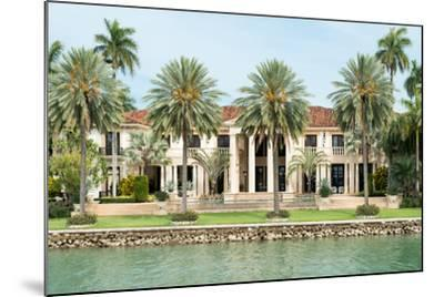 Luxurious Mansion by the Seaside on Star Island, Miami, Home of the Rich and Famous-Kamira-Mounted Photographic Print