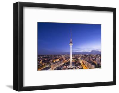 Cityscape of Berlin, Germany at Alexanderplatz.-SeanPavonePhoto-Framed Photographic Print
