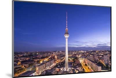 Cityscape of Berlin, Germany at Alexanderplatz.-SeanPavonePhoto-Mounted Photographic Print