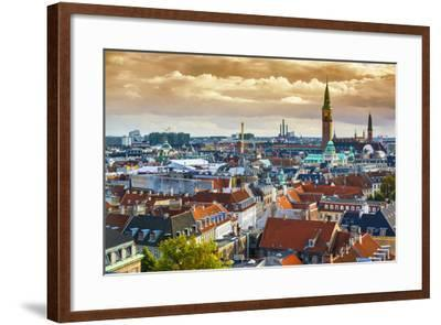 Copenhangen, Denmark Aerial View of the Skyline.-SeanPavonePhoto-Framed Photographic Print