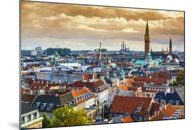 Copenhangen, Denmark Aerial View of the Skyline.-SeanPavonePhoto-Mounted Photographic Print