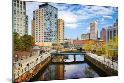 Providence, Rhode Island Cityscape at Waterplace Park.-SeanPavonePhoto-Mounted Photographic Print