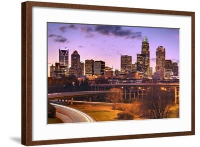 Skyline of Uptown Charlotte, North Carolina.-SeanPavonePhoto-Framed Photographic Print
