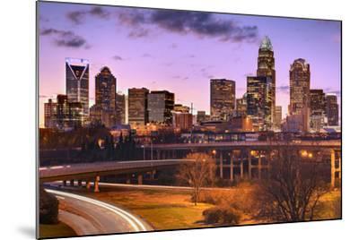 Skyline of Uptown Charlotte, North Carolina.-SeanPavonePhoto-Mounted Photographic Print