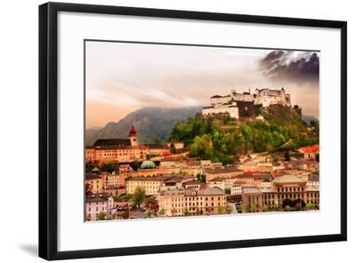 Dramatic Landscape before a Sunset over Salzburg, Austria-Maugli-l-Framed Photographic Print