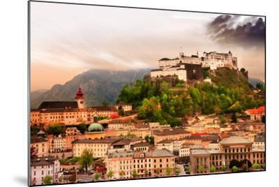 Dramatic Landscape before a Sunset over Salzburg, Austria-Maugli-l-Mounted Photographic Print
