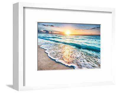 Sunrise over Beach in Cancun-rebelml-Framed Photographic Print