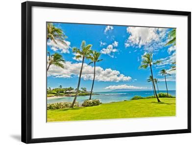 West Maui's Famous Kaanapali Beach Resort Area-eddygaleotti-Framed Photographic Print
