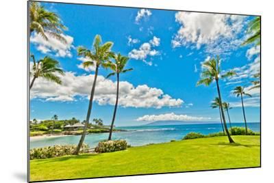 West Maui's Famous Kaanapali Beach Resort Area-eddygaleotti-Mounted Photographic Print