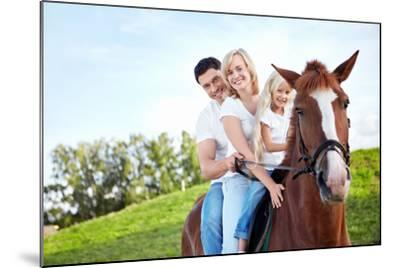Family on a Horse- Deklofenak-Mounted Photographic Print