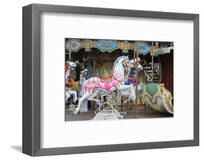Painted Carousel Horses, Paris, France-John Cumbow-Framed Photographic Print