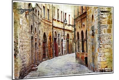 Streets of Medieval Towns of Tuscany. Italy-Maugli-l-Mounted Photographic Print