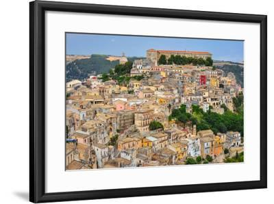 Colorful Houses in Old Medieval Village Ragusa in Sicily-MartinM303-Framed Photographic Print