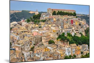 Colorful Houses in Old Medieval Village Ragusa in Sicily-MartinM303-Mounted Photographic Print