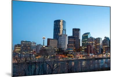 Calgary Skyline at Night-Jeff Whyte Photography-Mounted Photographic Print