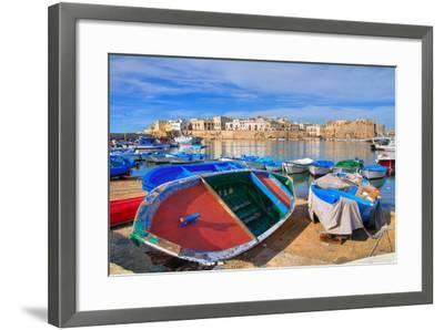 Panoramic View of Gallipoli. Puglia. Southern Italy.-Mi.Ti.-Framed Photographic Print